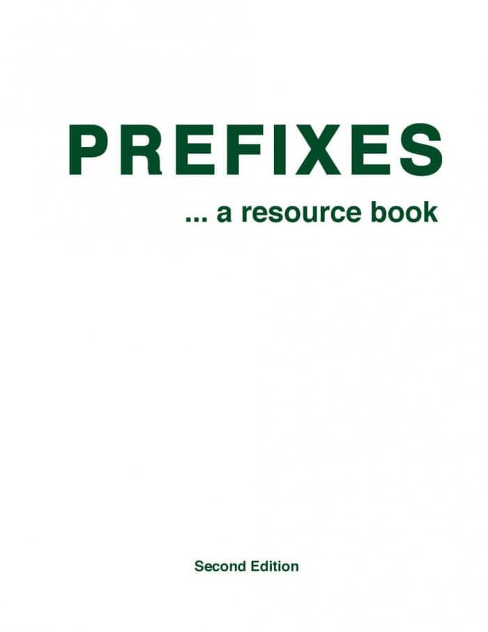 Prefixes: A Resource Book