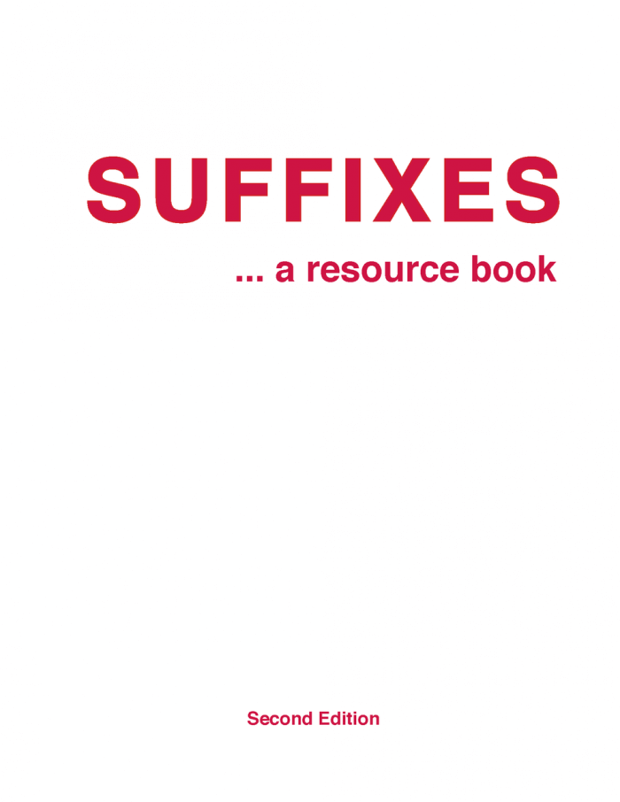 Suffixes: A Resource Book