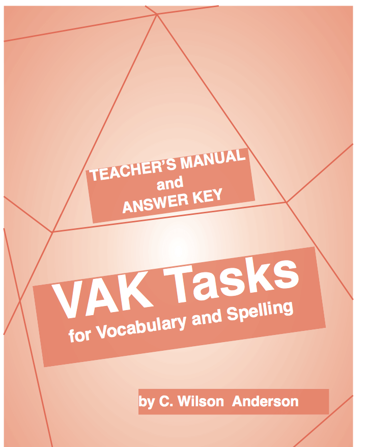 VAK Tasks Kit - Workbook and Teacher's Manual & Answer Key