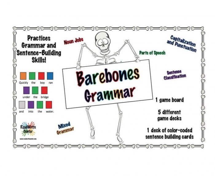 Barebones Grammar Board Game by Wendy Stacy