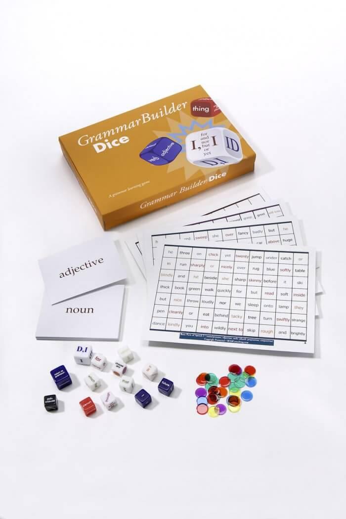 Phonics Dice Kit & GrammarBuilder Dice Kit together