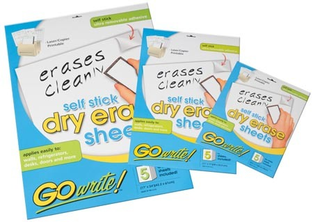Dry Erase Sheets - 8.5x11 5pack