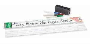 Dry Erase Sentence Strip - 3x24 30pack (white)