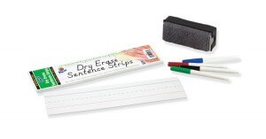 Dry Erase Sentence Strip - 3x12 30pack (white)