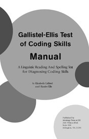 Gallistel-Ellis Test Teacher's Manual