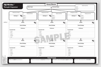 SQ Write Supplemental Blank Thought Organizers