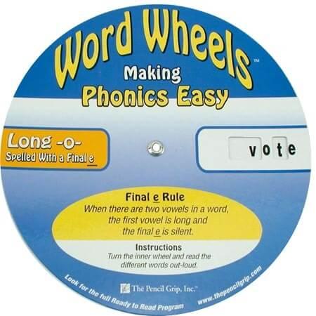 Word Wheels - Vowel-Cons.-E