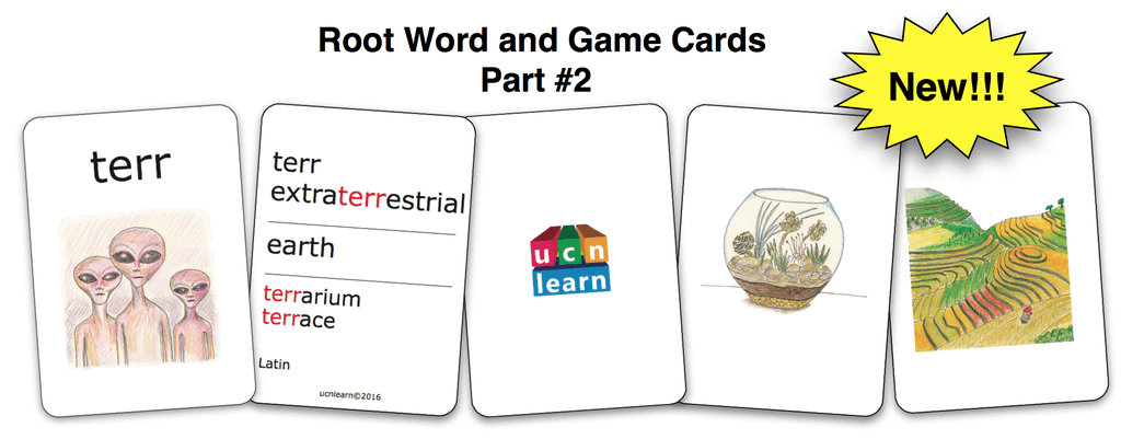 Root Word & Game Cards - Part 2